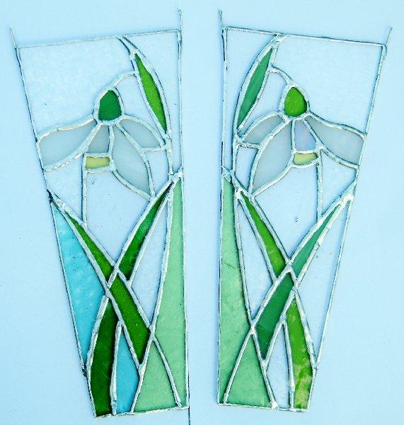 Shedglas Design Single Snowdrops in copper foil