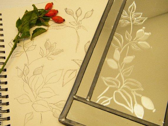 Shedglas Design - Rosehip Mirror