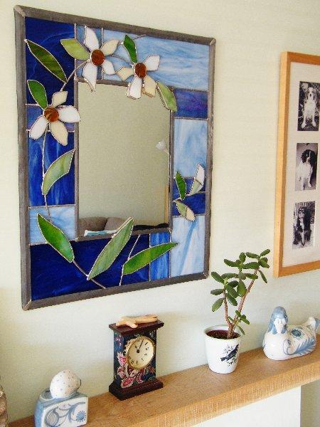 Shedglas Design Large Copper and Lead Mirror