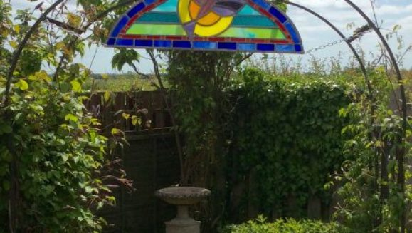 Bespoke commission to fit the garden arch