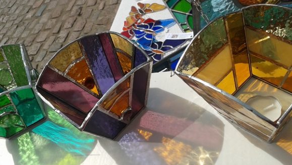 Shedglas Design - candle boxes in the sun